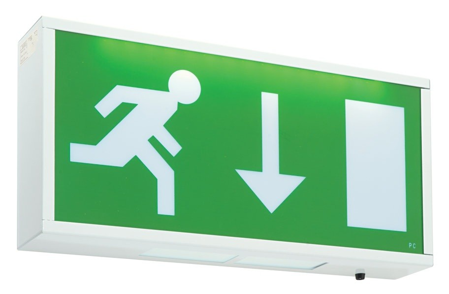 Emergency Lights Maintained Exit Box