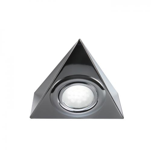Knightsbridge Ucled13 Led Under Cabinet Striplight Cool White: LTI01C 12 Volt 2.1 Watt LED Triangle Lights Chrome