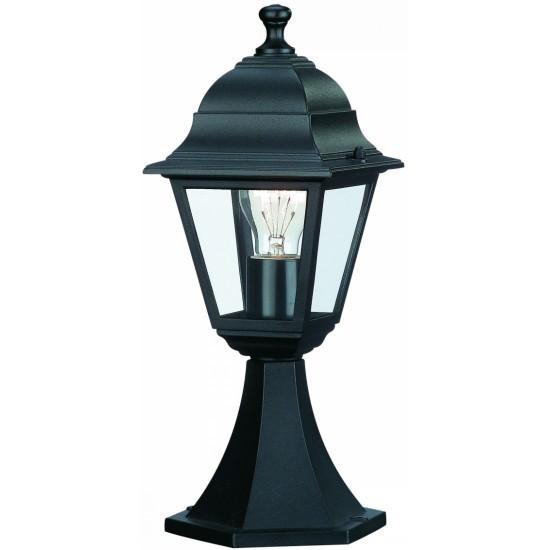 Warwick Pedestal Lantern Light Black: Philips Pedestal Post Lights Lantern Outdoor Lights