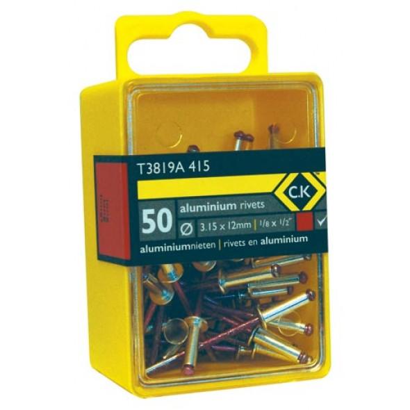 C.K Pop Rivets Aluminium 3.8x12mm Box Of 50