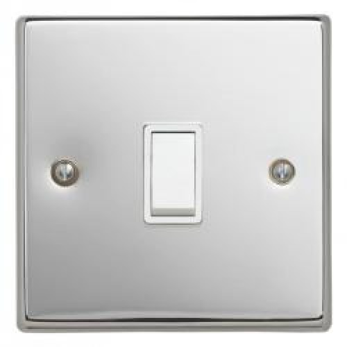 20A Double Pole Switch Polished Chrome