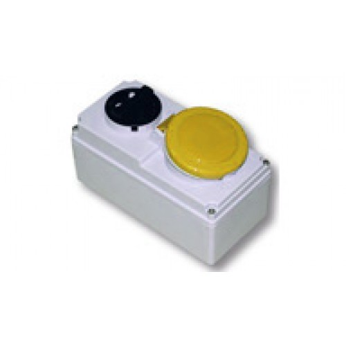 110v-yellow-32amp-interlocked-socket-2P-E-IP44