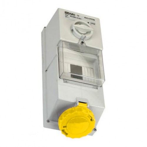 110v-yellow-16amp-interlocked-socket-fuse-box-2P-E-IP44