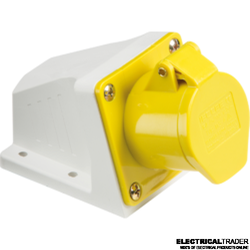 110v-yellow-32amp-socket-2P-E-IP44