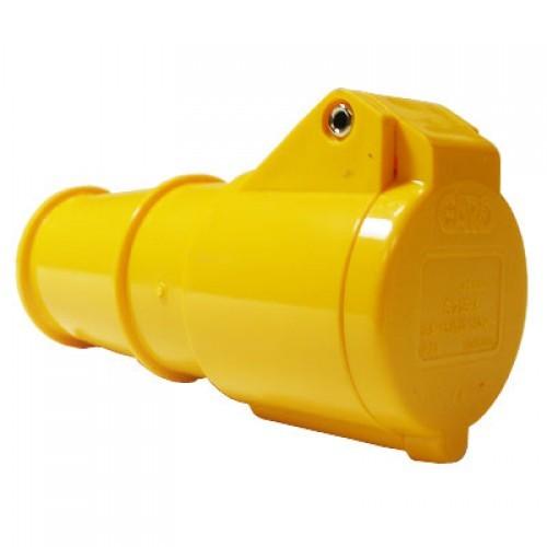 110v-yellow-straight-socket-16amp-2p-e