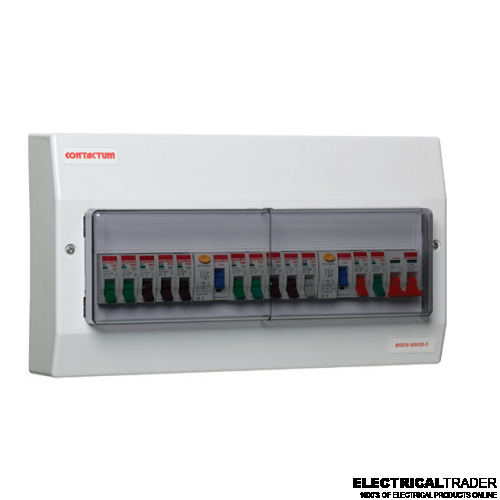 17th Edition Contactum Consumer Unit - 8 Way complete board