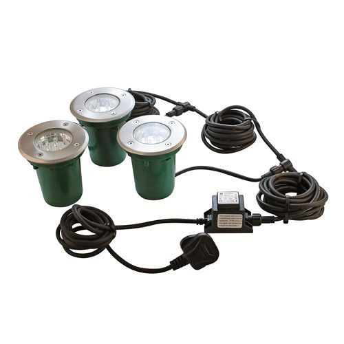 Walkover LED Decking Lights Circular Kit 3 X 1W