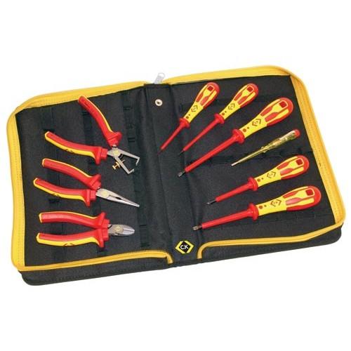C.K VDE Pliers and Screwdrivers Kit 9 Piece PZ & SL Tips