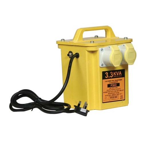 3.3KVA Twin Outlet Portable Site Transformer
