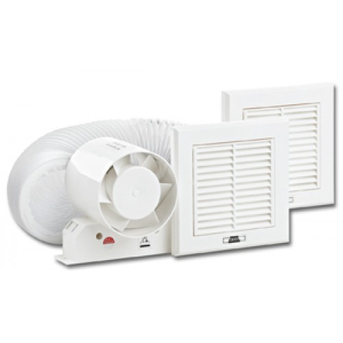 "4""In-line shower Extractor fan kit with timer"