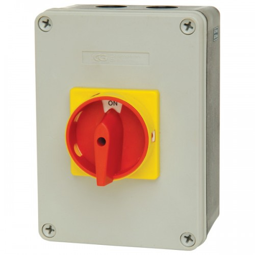 25A 4 pole rotary isolator