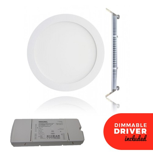 7 Inch Dimmable LED Panel Downlight White 15w