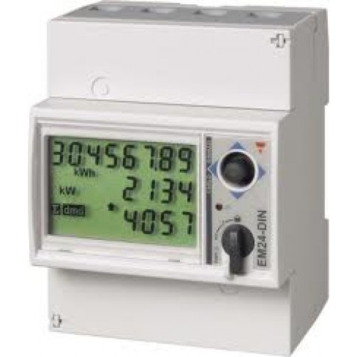 Carlo Gavazzi EM24 65A 3-phase meter with 3 pulse inputs and Modbus