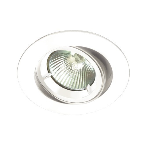 White Tilt Die Cast GU10 Downlight