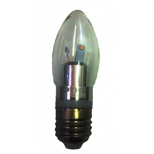 One LED 4W Clear Candle E27 Edison Screw LED Lamps