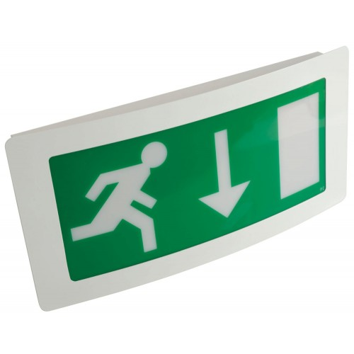 Emergency Lights - Maintained Exit Box Curved