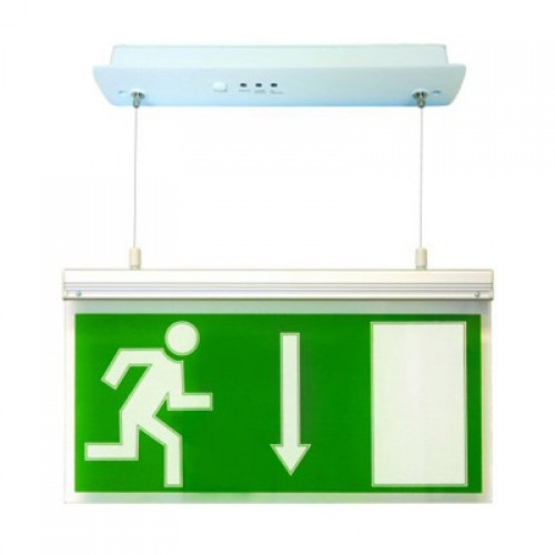 Emergency Lights - Maintained LED Hanging Exit Box Sign Light
