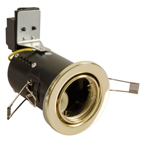 Fire Rated Downlights Tilt Brass GU10