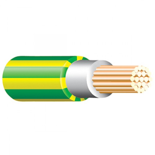 Green and Yellow Tri Rated Cable Per 100m 6mm