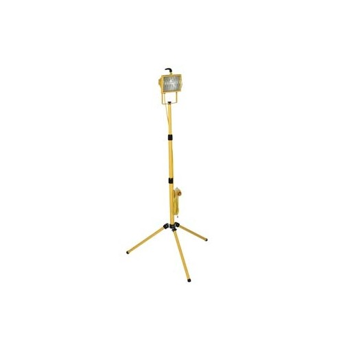 Site lights - Portable Yellow 500w Halogen 110V Floodlight Tripod