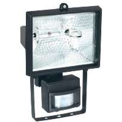 500W Black Halogen Floodlights With PIR