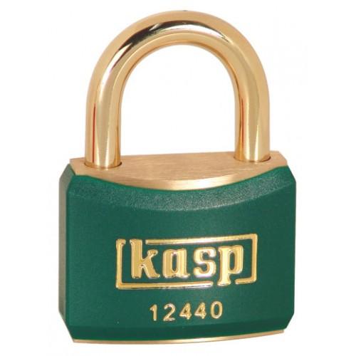 Kasp 124 Series Brass Padlock 40mm Green