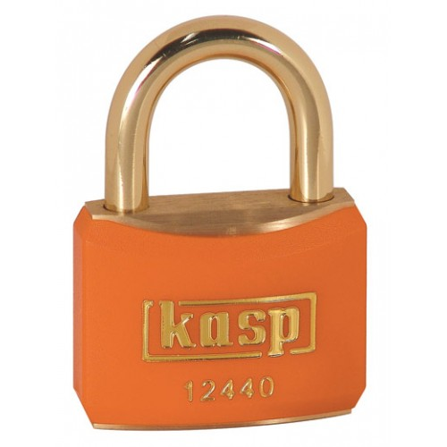Kasp 124 Series Brass Padlock 40mm Orange Keyed Alike To Suite 24404