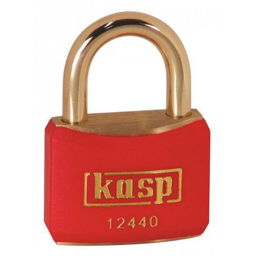 Kasp 124 Series Brass Padlock 40mm Red