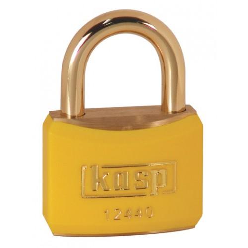 Kasp 124 Series Brass Padlock 40mm Yellow Keyed Alike To Suite 24405