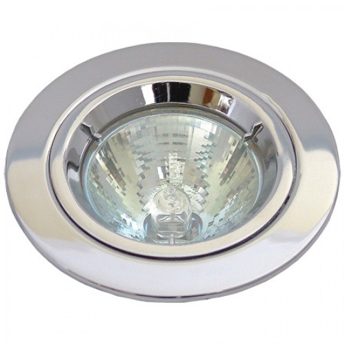 Chrome Die-Cast GU10 Fixed Downlight