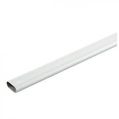 Plastic Oval Conduit 16mm x 3M Length