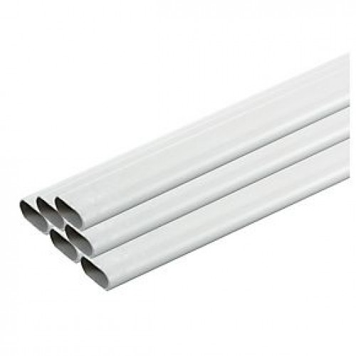 Plastic Oval Conduit 25mm x 3M Length Pack of 50