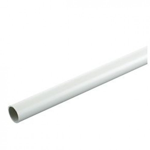 Plastic Round Conduit 25mm x 3M Length White