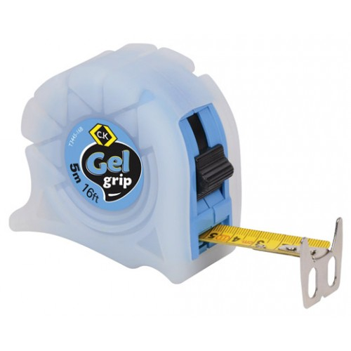 C.K Gel-Grip Tape Measure 5m 16ft Blue