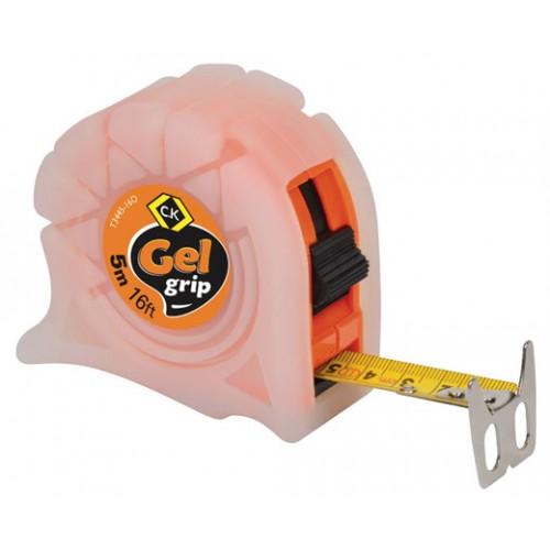 C.K Gel-Grip Tape Measure 5m 16ft Orange