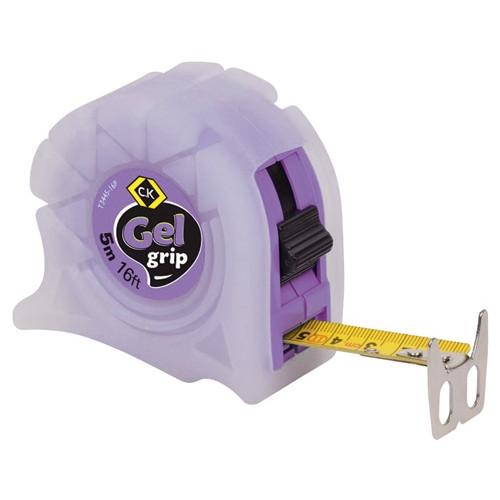 C.K Gel-Grip Tape Measure 5m 16ft Purple