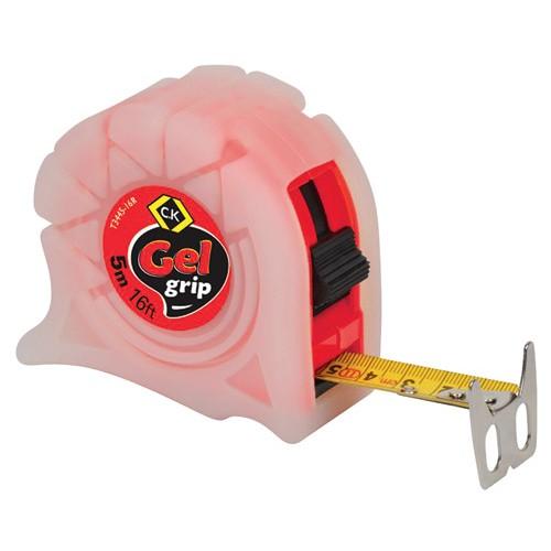 C.K Gel-Grip Tape Measure 5m 16ft Red