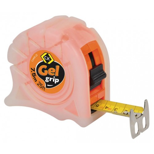 C.K Gel-Grip Tape Measure 7.5m 25ft Orange