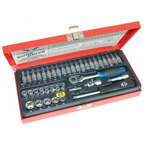 "C.K Sure Drive 39 Piece Socket Set 1/4"" Drive"