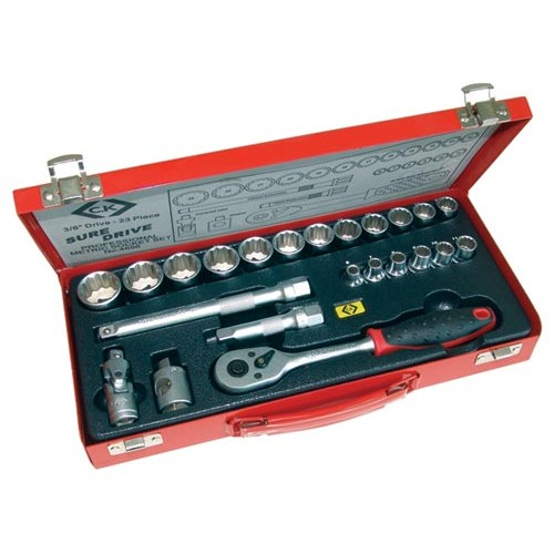 "C.K Sure Drive 23 Piece Socket Set 3/8"" Drive"