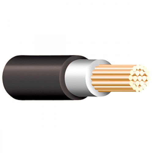 Black Tri Rated Cable Per Meter 10mm