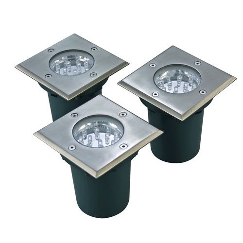 Walkover LED Decking Lights Square Kit 3 X 1W