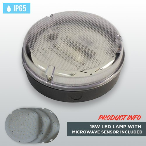 black-circular-weatherproof-ip65-bulkhead-15w-led-lamp-microwave-sensor