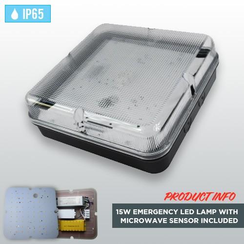 black-square-weatherproof-ip65-bulkhead-15w-emergency-led-lamp-with-microwave-sensor