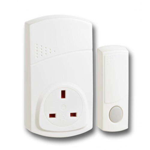 Plug-in Wirefree Doorchime - White