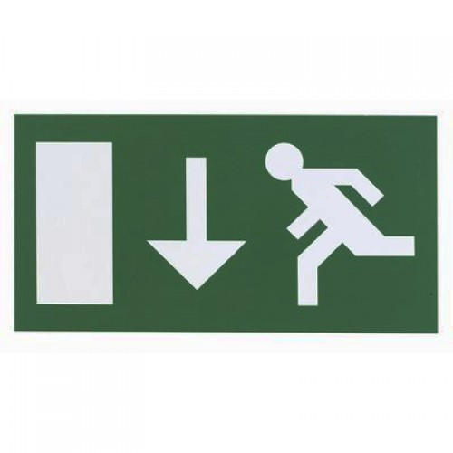Emergency lights - Exit Legend For Exit Box - Down
