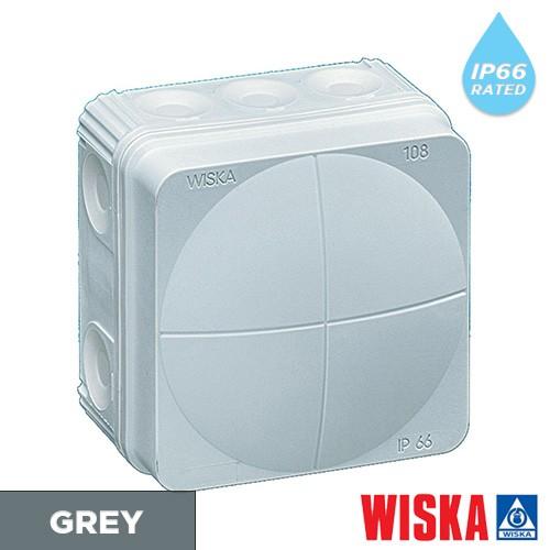 Grey-wiska-combi-junction-box-ip65
