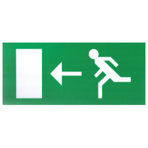 Emergency lights - Exit Legend For Exit Box - Left