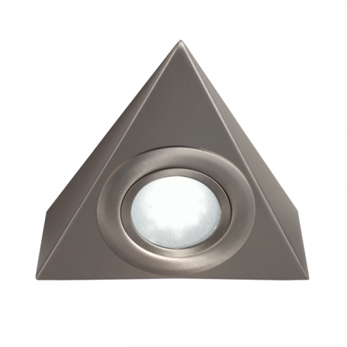 LTI01CBR 12 Volt 2.1 Watt LED Triangle Lights Brushed Chrome
