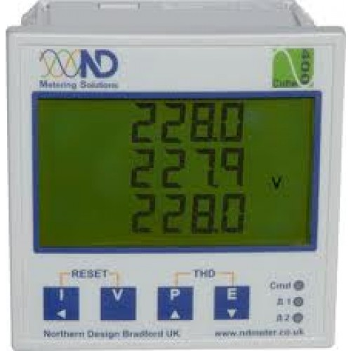 Northern Design Cube400 Multifunction Meter with Harmonic Analysis, Pulse Output and Modbus